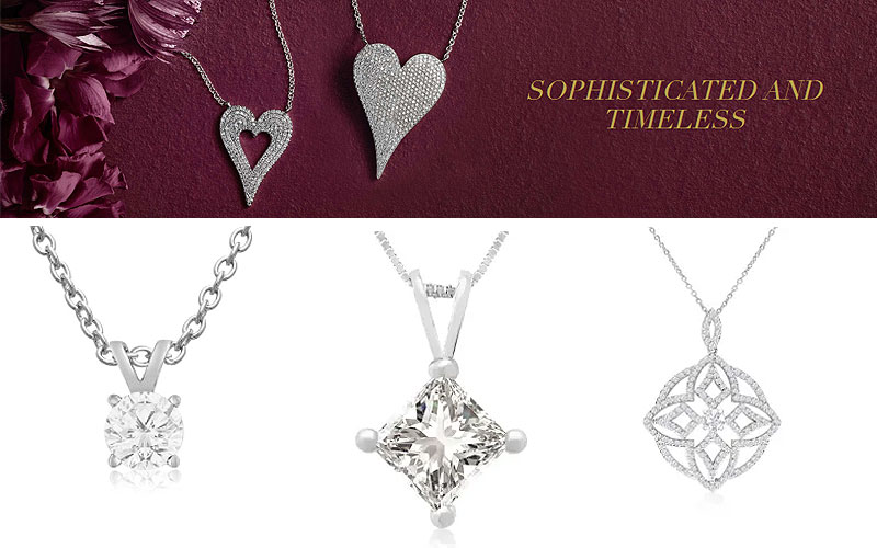 Up to 75% Off on Diamond Necklaces for Her