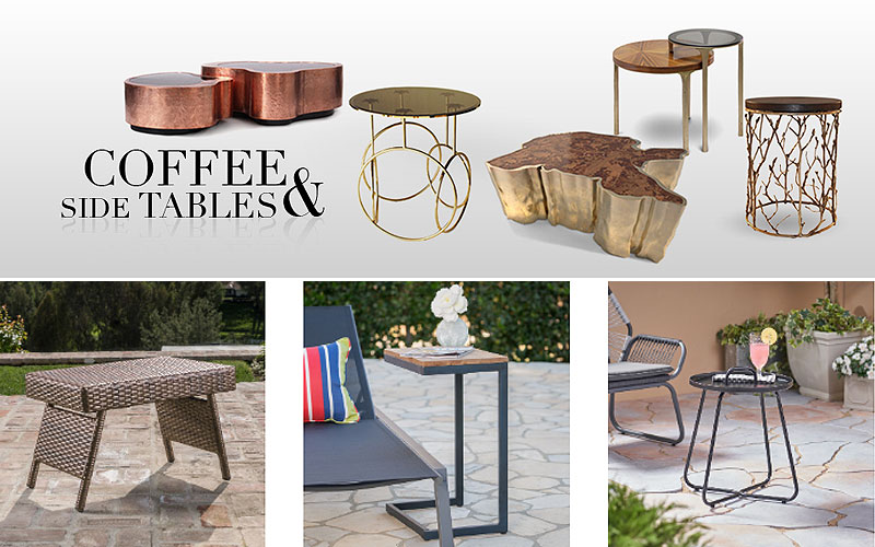 Buy Discount Modern Outdoor Side & Coffee Tables