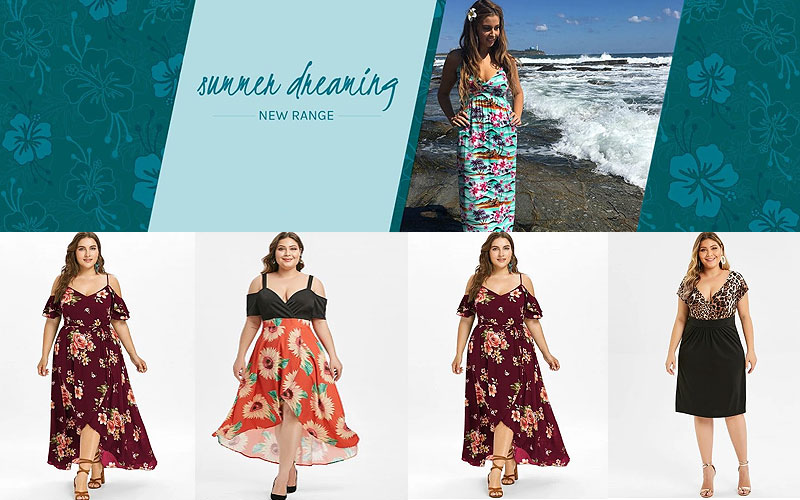 Up to 50% Off on Women's Plus Size Summer Dresses