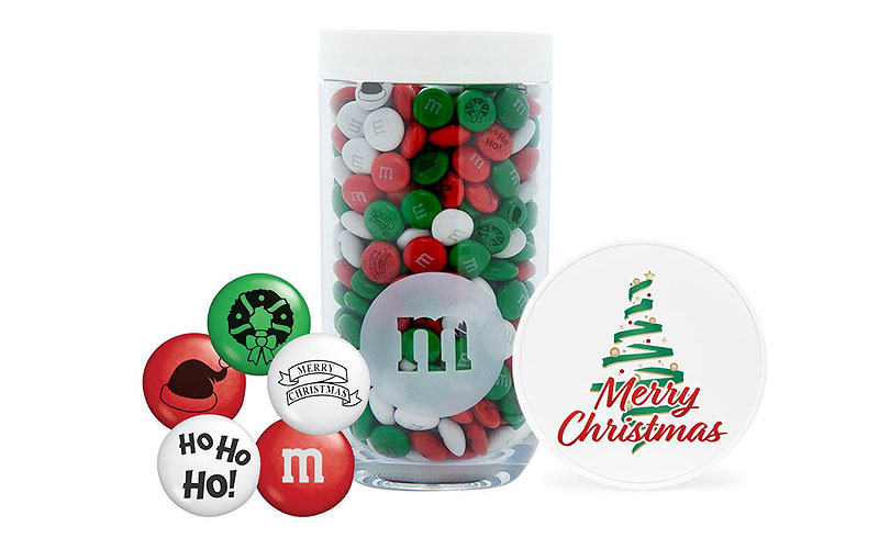 Christmas Tree Gifting Jar with Christmas M&MS
