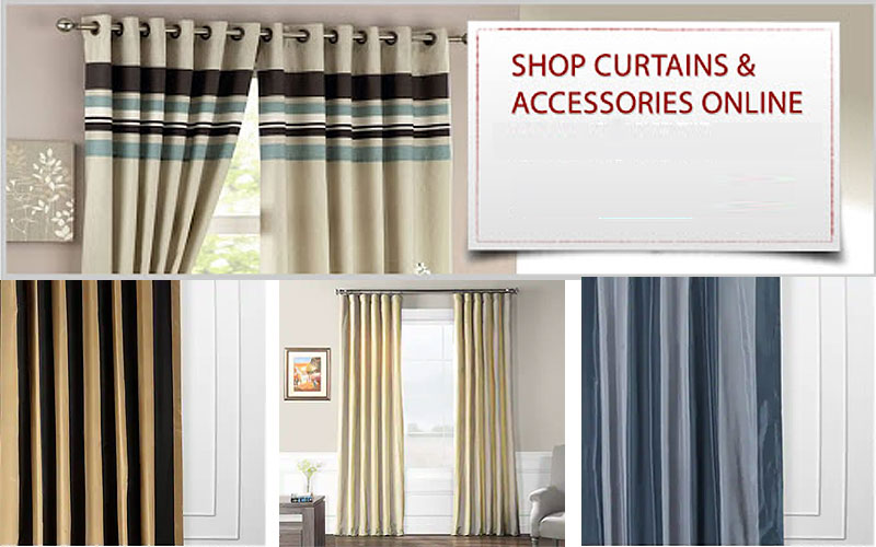 Up to 60% Off Designer Striped Faux Silk Curtains