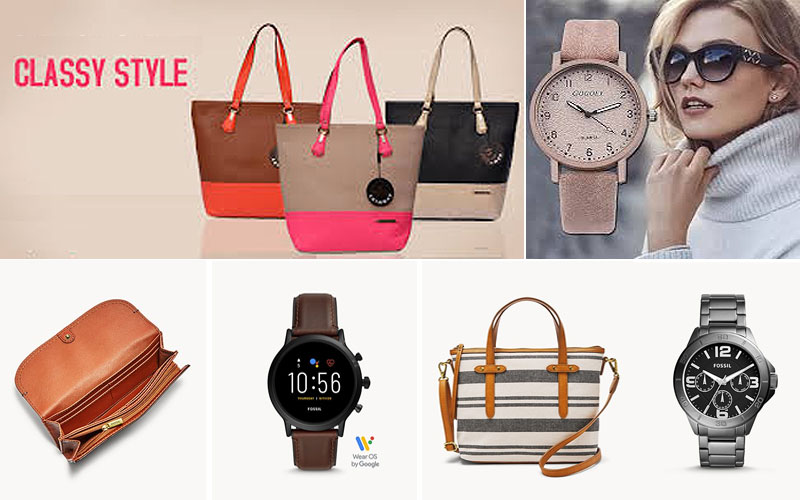 Up to 60% Off on Fossil Watches, Wallets & Handbags