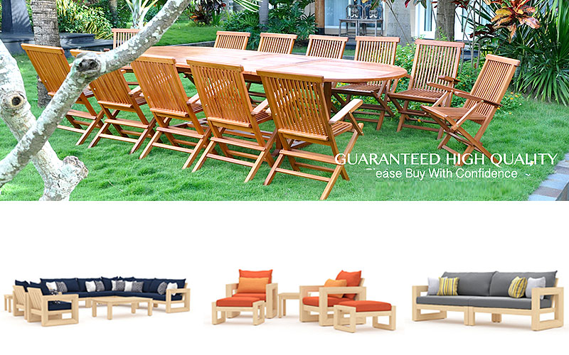 Outdoor Wood Furniture Sets at Discount Prices