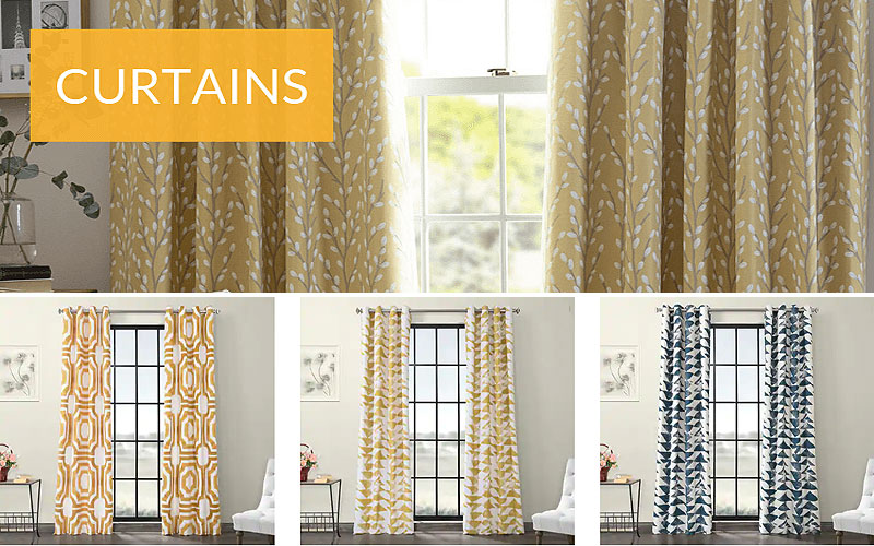 Up to 50% Off on Pattern & Printed Curtains