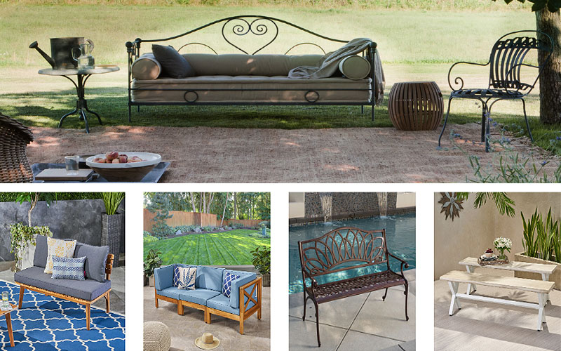 Shop Modern Outdoor Sofas & Benches on Sale Prices