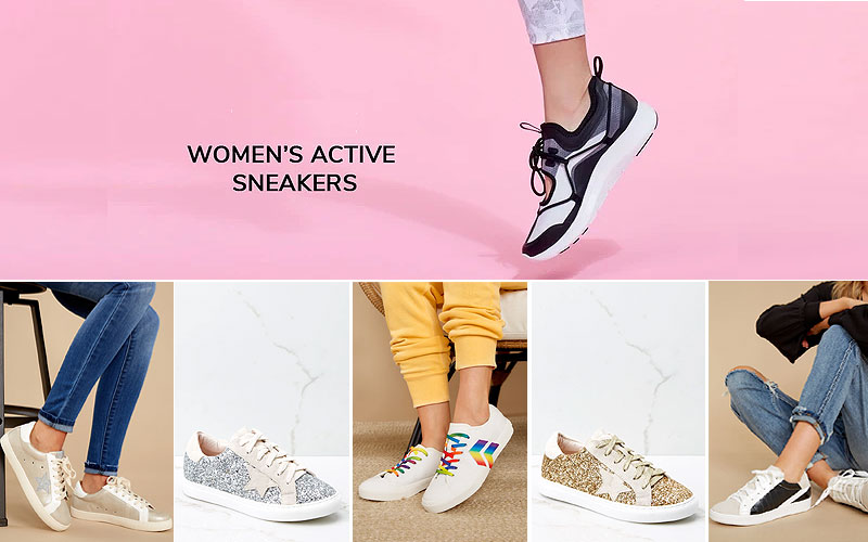 Shop Online Women's Sneakers Shoes on Sale Prices