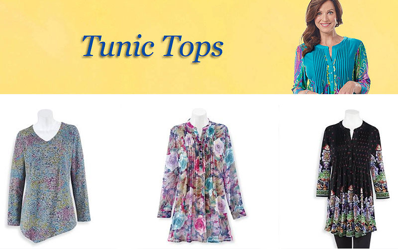 Up to 60% Off on Designer Women's Tunic Tops