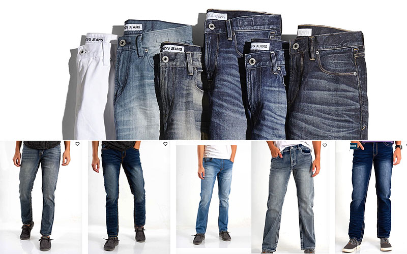 50% Off on Men's True Luck Jeans Collection