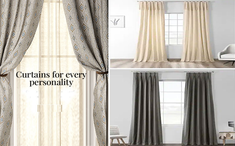 Up to 60% Off on Solid Color Curtains