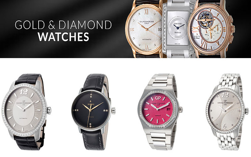 Up to 75% Off on Women's Gold & Diamond Watches