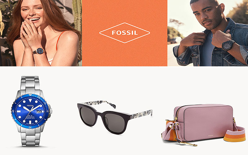 Up to 50% Off on Fossil Watches, Wallets, Handbags & More