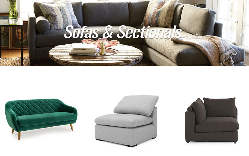 Up to 65% Off on Indoor Sofas & Sectionals