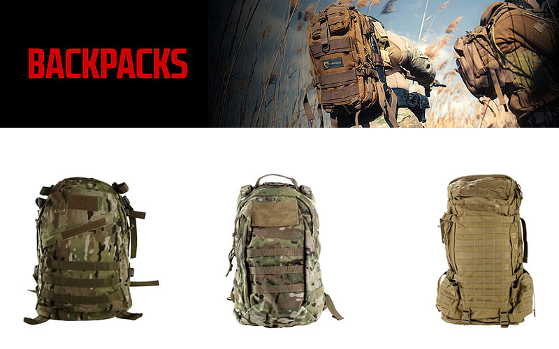 Tactical Bags & Backpacks as Low as $9.99 Only