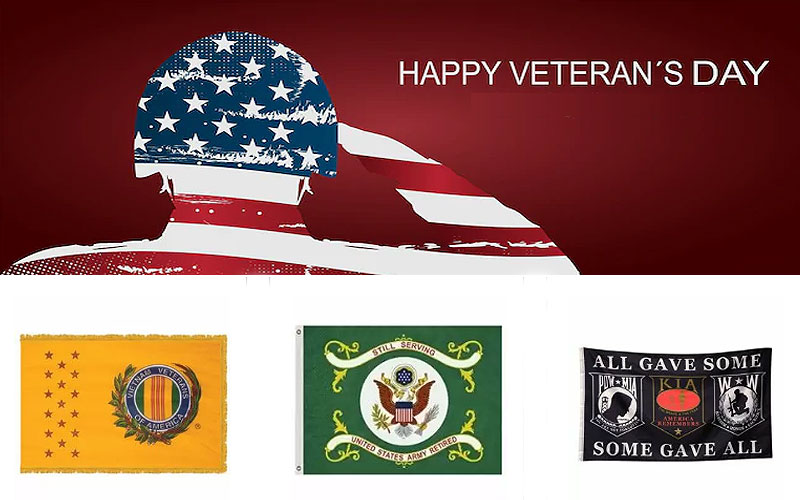 Shop Veteran Flags Online at Discounted Prices