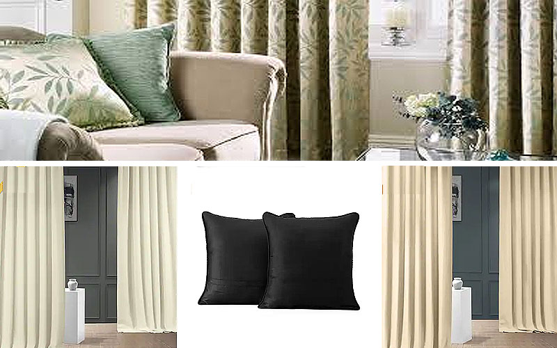 Get 60% Off on Curtains & Cushions