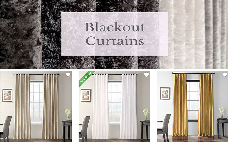 Up to 60% Off on Blackout Faux Silk Curtains