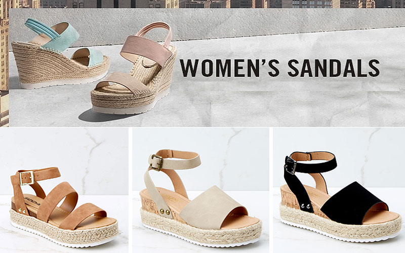 Shop Online Women's Wedge Sandals on Sale Prices