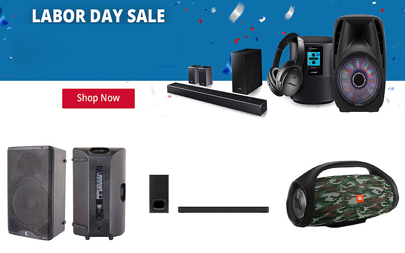 Labor Day Sale: Up to 70% Off on Speakers & Headphones