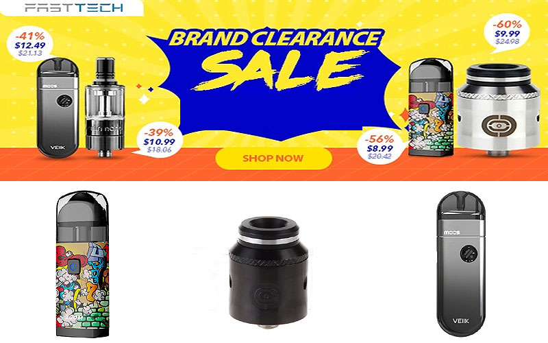 Brand Clearance Sale: Up to 60% Off on E-Cigarette & Accessories