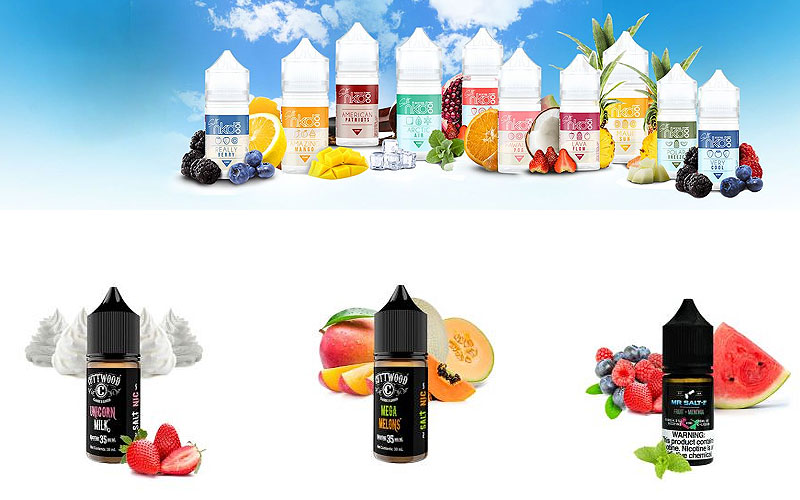 Shop for Best Nicotine Salt E-Juices on Sale Prices