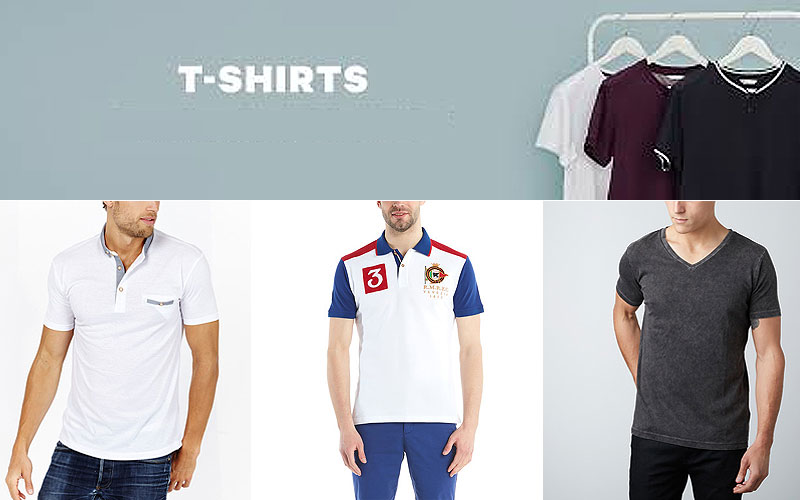 Up to 80% Off on Men's T-Shirts