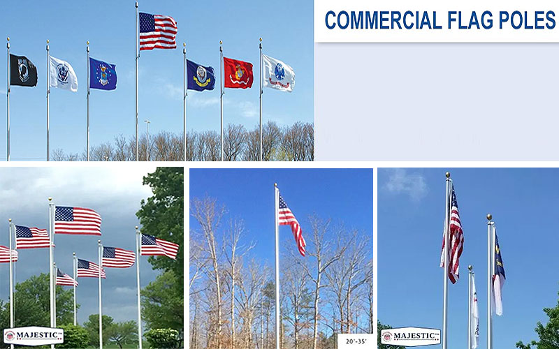 Commercial Flagpoles & Sets on Sale Prices