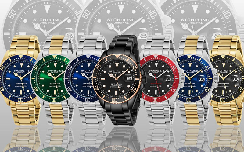 Exclusive Stuhrling Men's Professional Dive Watch