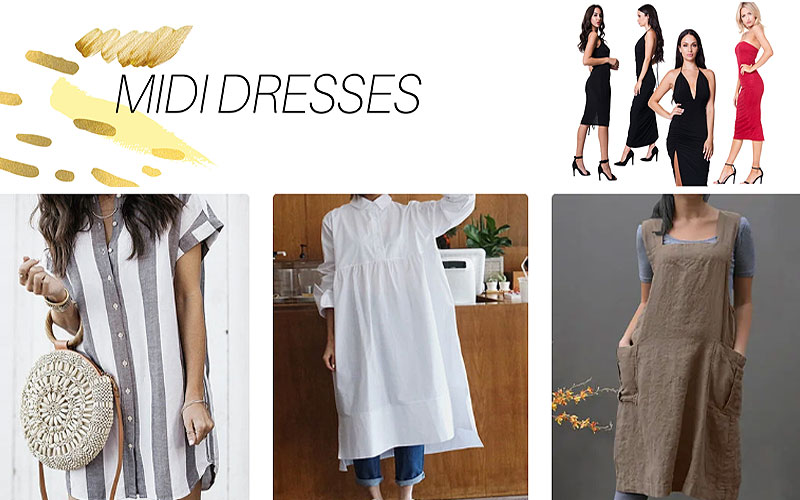 Up to 25% Off on Women's Midi Dresses