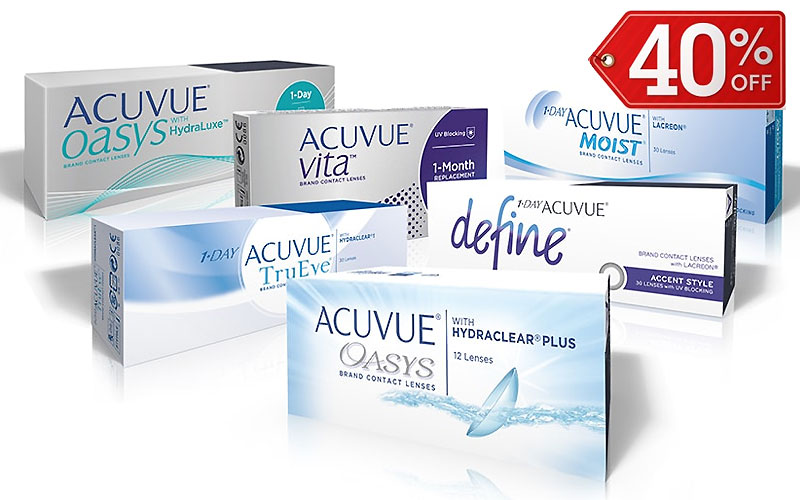 Up to 40% Off on Acuvue Contact Lenses