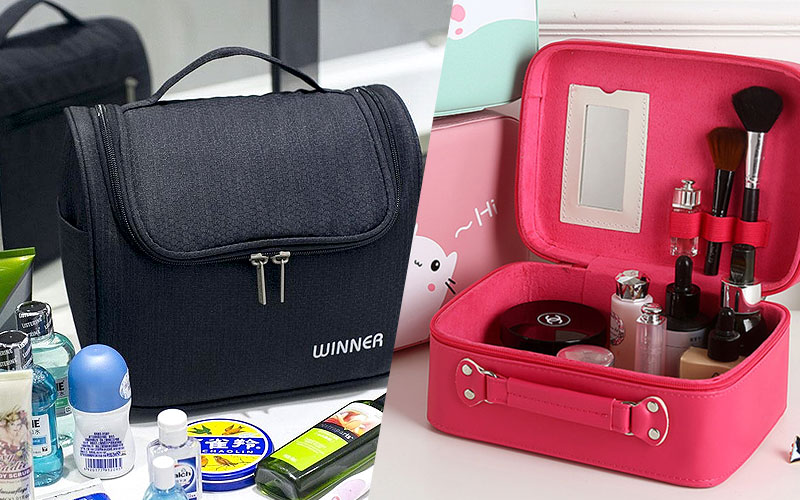 Up to 80% Off on Makeup Organizers & Cosmetic Bags