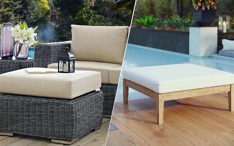 Up to 60% Off on Designer Outdoor Ottomans