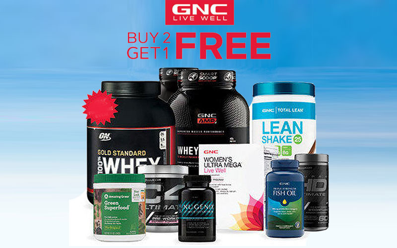 GNC Buy 2 Get 1 Free Offers