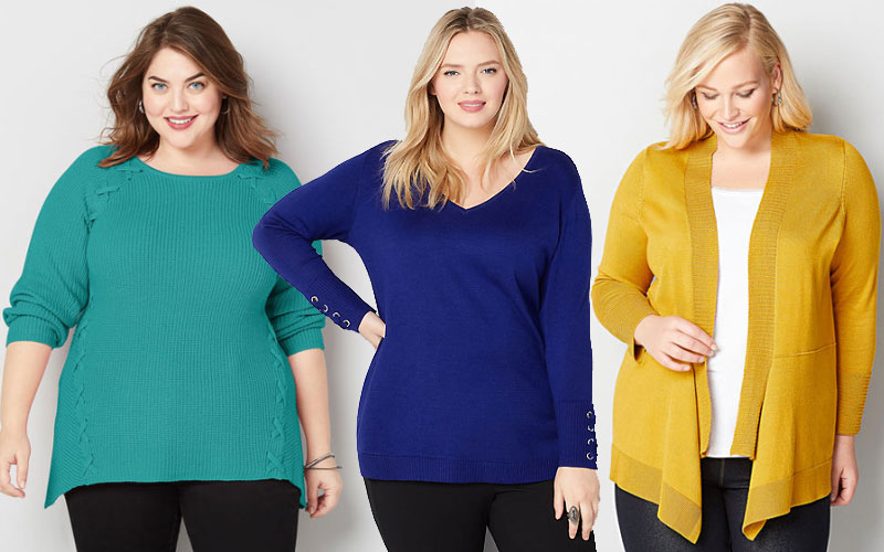 Up to 70% Off on Women's Plus Size Cardigans & Sweaters