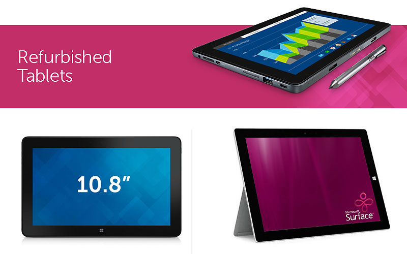 Up to 60% Off on Refurbished Tablets