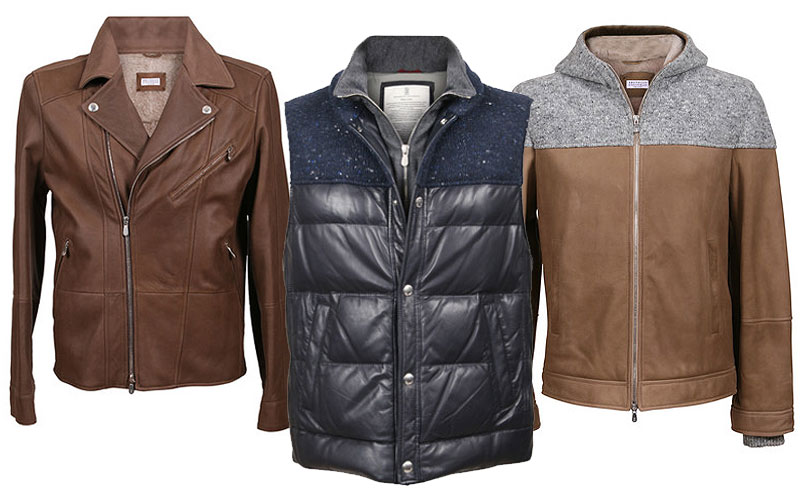 Up to 75% Off on Brunello Cucinelli Leather Jackets