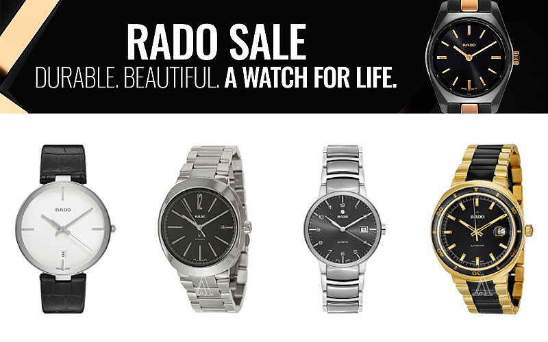 Up to 80% Off on Authentic Rado Watches