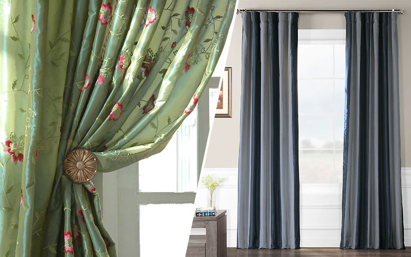 Up to 70% Off on Faux Silk Curtains