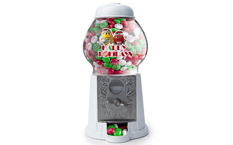 Happy Holidays M&M'S Characters Candy Dispenser & Personalized M&M'S