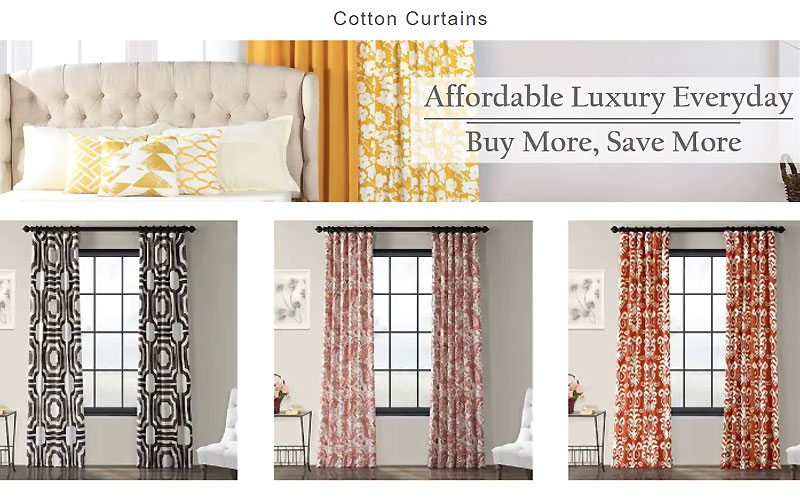Up to 80% Off on Cotton Curtains