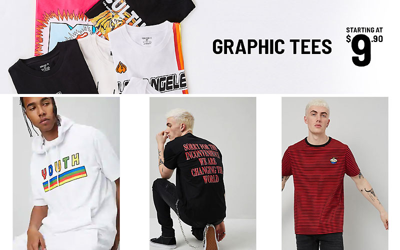 Men's Graphic Tees Starting at $9.90 Only
