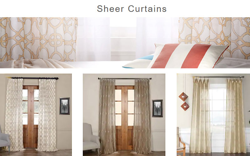 Up to 80% Off on Sheer Curtains