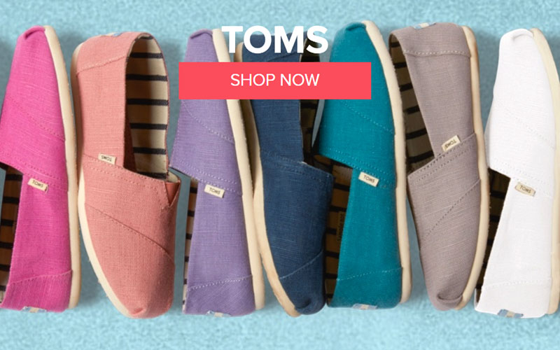 Up to 50% Off on Toms Shoes for Men & Women