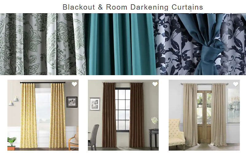 Up to 70% Off on Blackout & Room Darkening Curtains