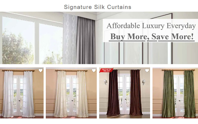 Up to 70% Off on Signature Silk Curtains