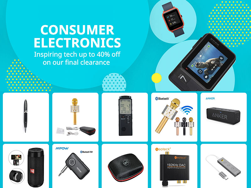 Up to 60% Off on Consumer Electronics