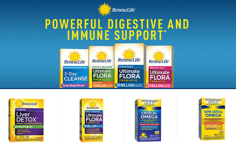 Up to 20% Off on Renew Life Probiotic Supplements