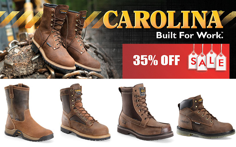 Up to 35% Off on Carolina Footwear