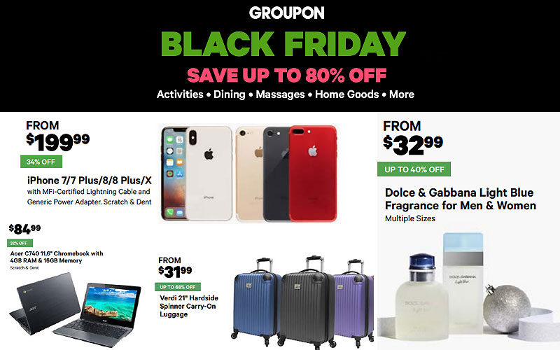 Groupon Black Friday Deals 2019: Up to 80% Off