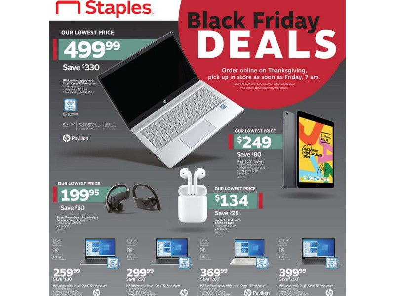 Staples Black Friday Ad 2019