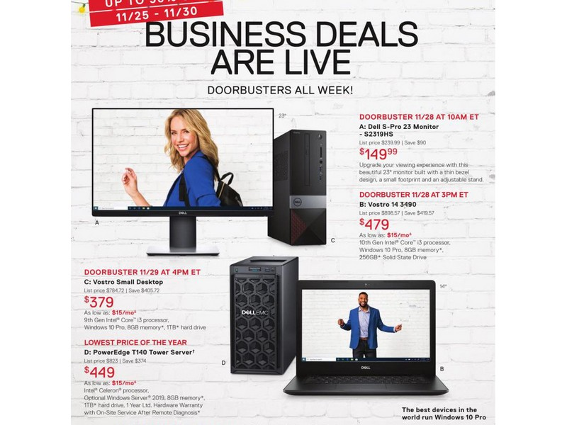 Dell Small Business Black Friday Ad 2019